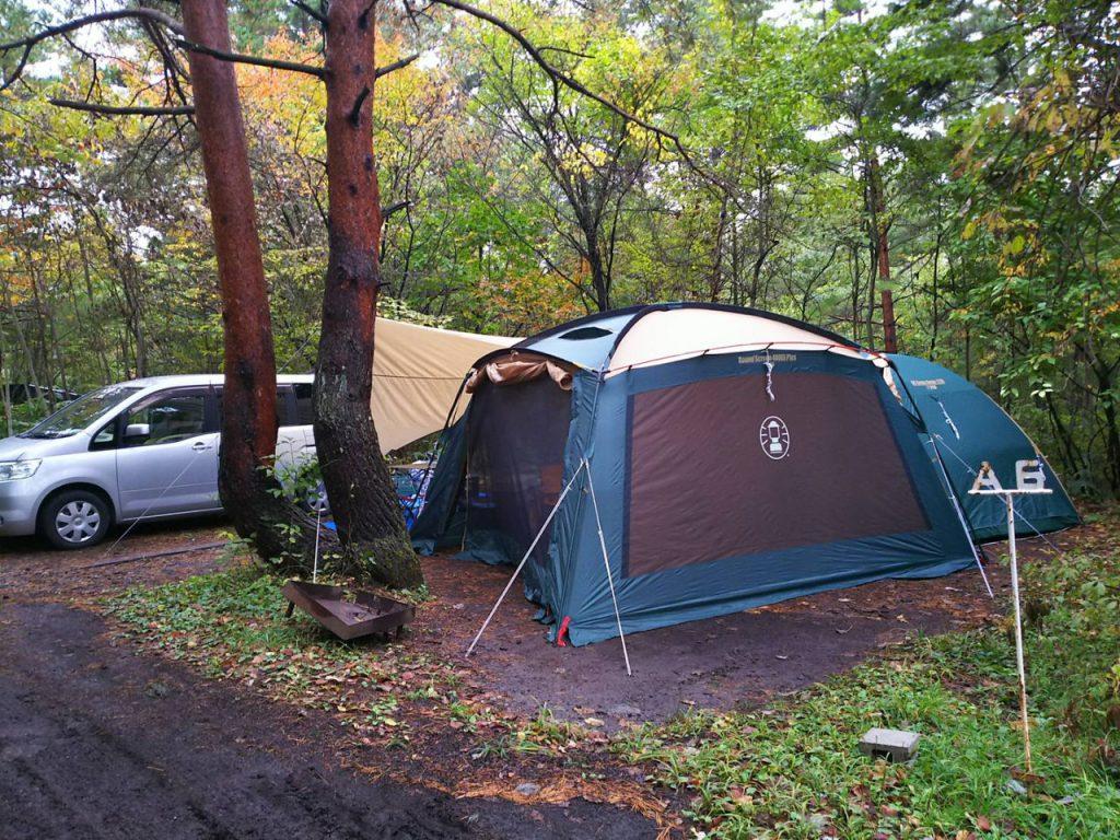 カンパーニャ嬬恋キャンプ場設営