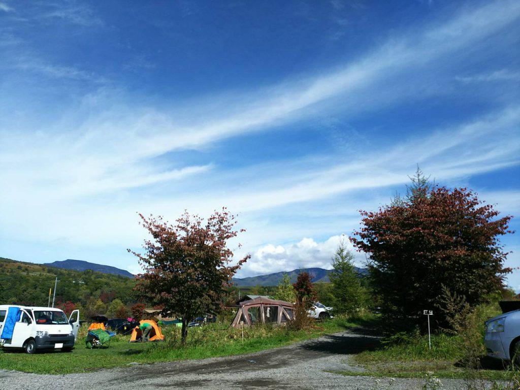 カンパーニャ嬬恋キャンプ場の草原サイト