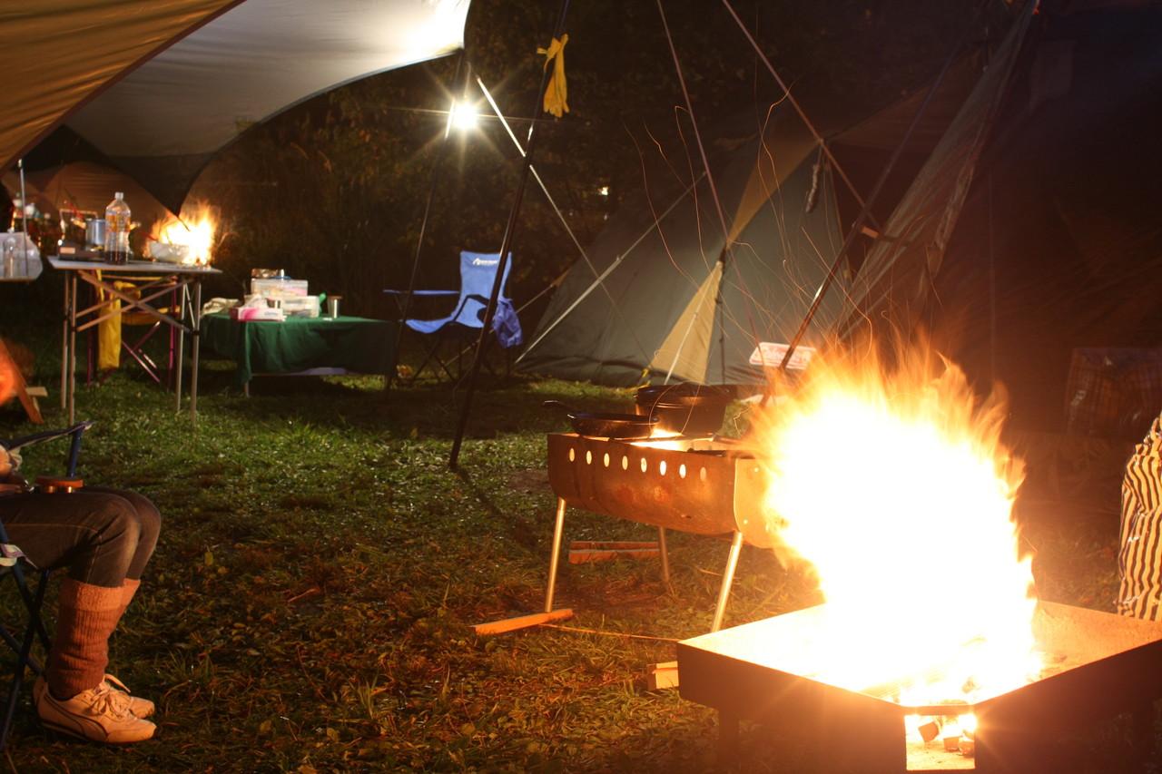 カンパーニャ嬬恋キャンプ場焚き火