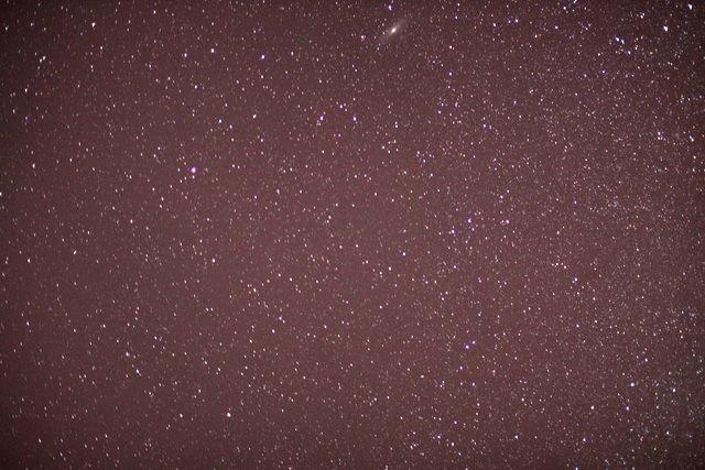 鬼怒川温泉キャンプ場の星空