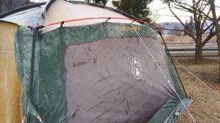 冬キャンプ 凍結