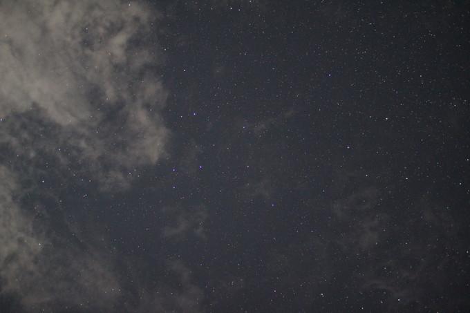 キャンプで星空撮影
