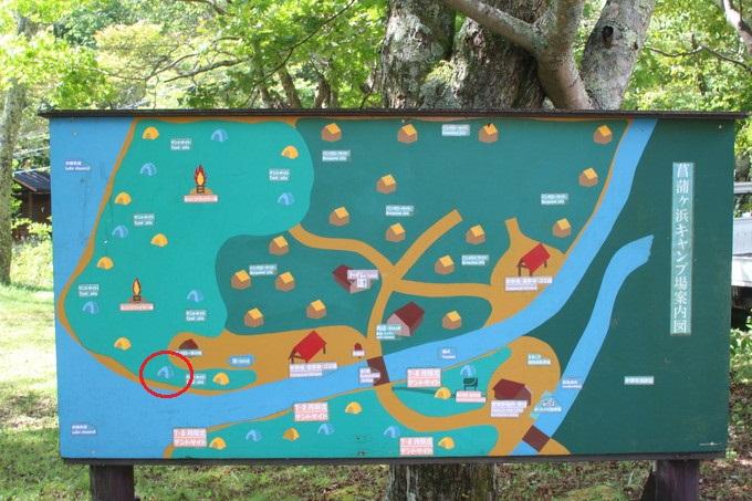 菖蒲ヶ浜キャンプ場サイトマップ